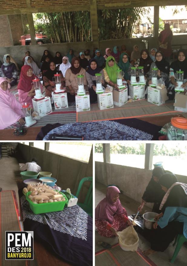 Image : Pelatihan Produksi Susu Kedelai Skala Usaha Bagi Ibu Rumah Tangga